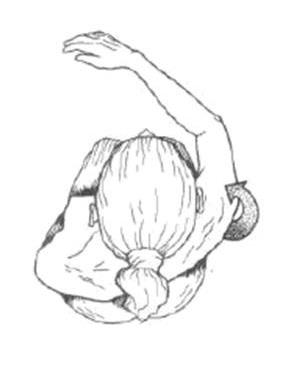 aducción horizontal hombro