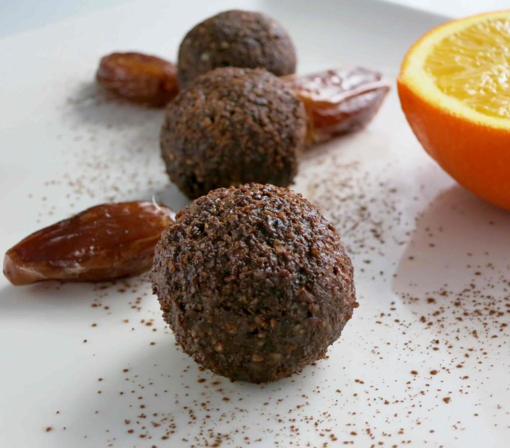 trufas paleo de naranja