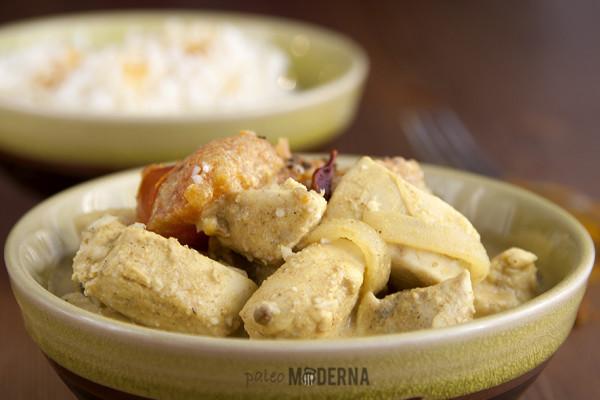 Pollo tikka masala con arroz de coliflor {crockpot}