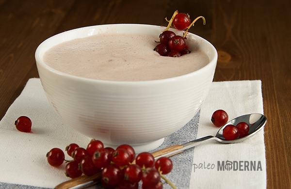paleo postre: espuma de fresas
