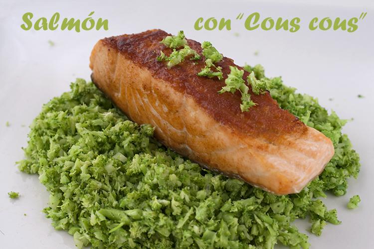 salmon con cous cous brocoli paleo