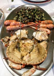 Los susos, mariscada galicia