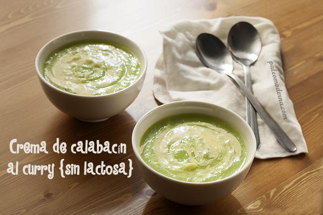 Crema de calabacin al curry {sin lactosa}