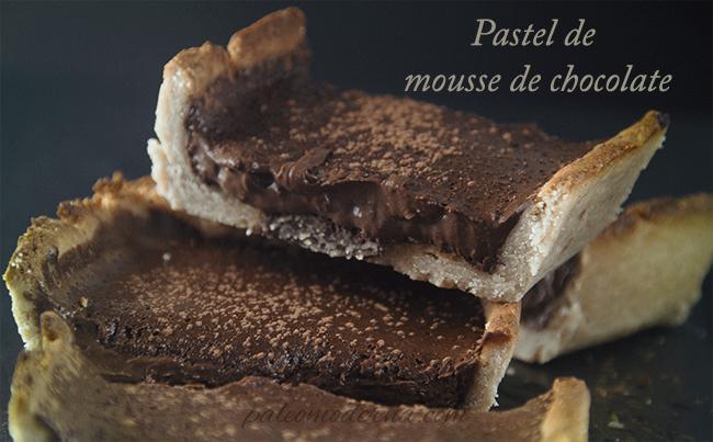 Pastel de mousse de chocolate {sin gluten, sin lactosa}