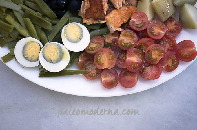 Ensalada nizarda con salmón {Nicoise salad}