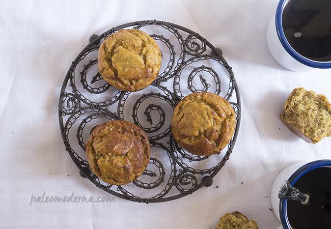 Muffins de mango y semillas de chía {paleo}