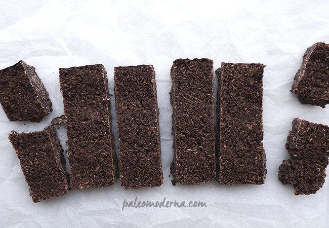 Barritas energéticas de chocolate y coco {paleo}