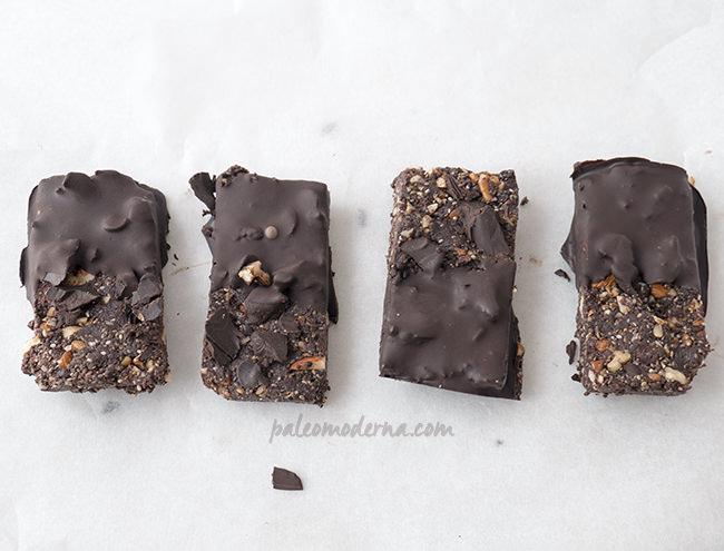 Barritas energéticas chocolate y chía
