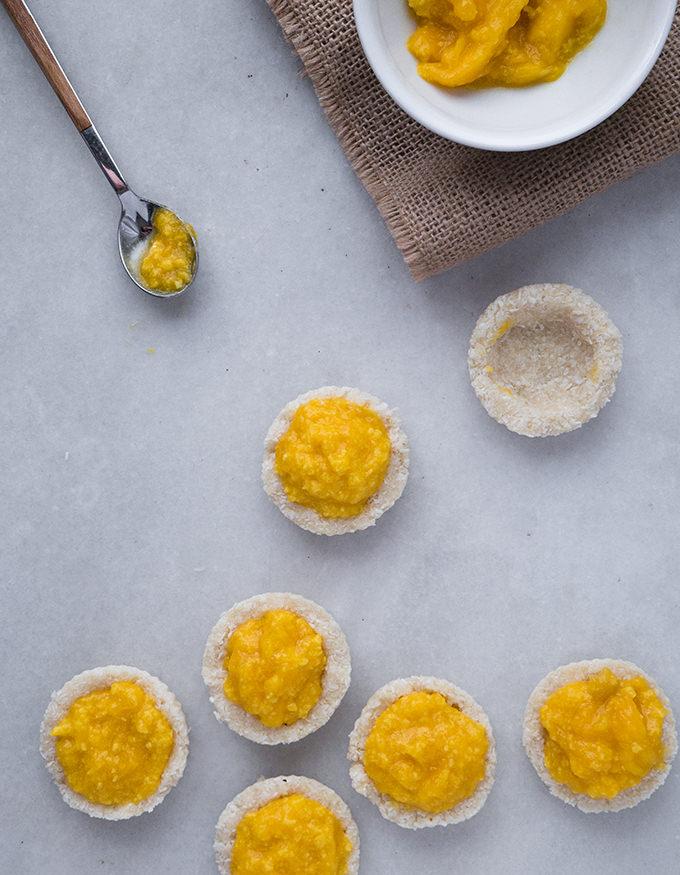Tartaleta mango paleo