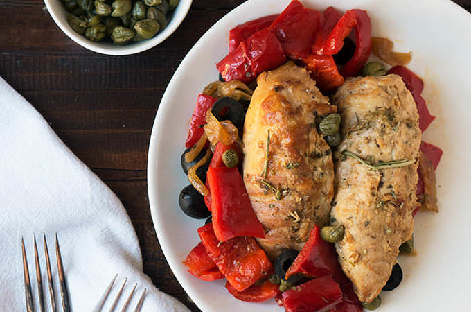 Pollo asado al estilo italiano en {crockpot}