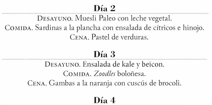 menu paleo