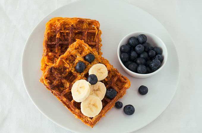 Ideas para desayunos y gofres de boniato